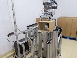 Коллаборативный робот картонажник SIA. Манипулятор TM Robot и захват SIA.
